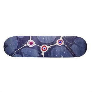 大理石模様をつけられたポップアート スケートボード