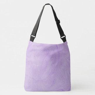 大理石模様をつけられた抽象デザイン|の紫色 クロスボディバッグ