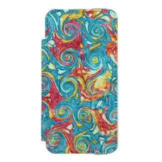 大理石模様をつけられた渦巻 INCIPIO WATSON™ iPhone 5 財布 ケース