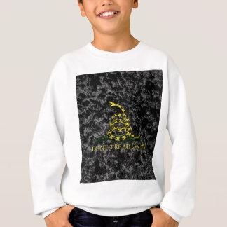 大理石模様をつけられた背景のガズデンのヘビ スウェットシャツ