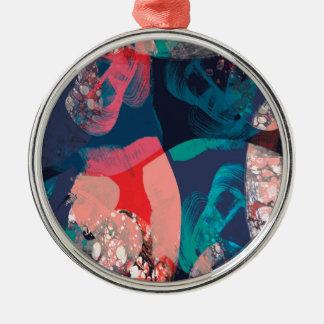 大理石模様をつけられる抽象芸術 メタルオーナメント
