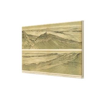 大理石渓谷のプラットホームの眺め キャンバスプリント