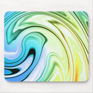 大理石色の波 マウスパッド