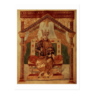 大石柱1152 f.3vカール大帝(Carolusマグナス、チャールズ はがき