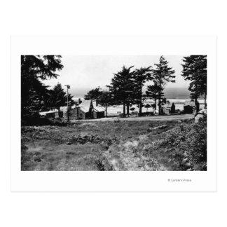 大砲のビーチ、オレゴンのアルカディアのコテージの海 ポストカード