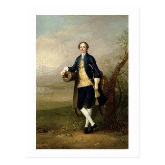 大砲を持つ紳士、1741年(キャンバスの油) ポストカード