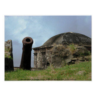 大砲、Fuerteサンロレンソ、リオChagres、パナマ ポスター