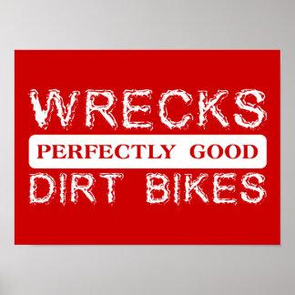 大破の完全によい土はモトクロスポスターを自転車に乗ります ポスター