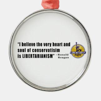 大統領によるロナルド・レーガン保守主義の引用文 メタルオーナメント