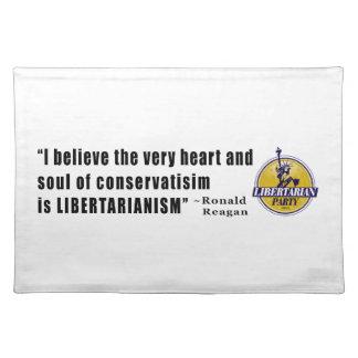 大統領によるロナルド・レーガン保守主義の引用文 ランチョンマット