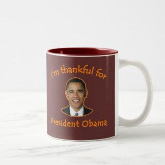 大統領のためにオバマT-shirtsのマグ感謝している ツートーンマグカップ