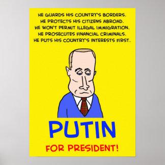 大統領のためのウラジーミル・プーチン! ポスター