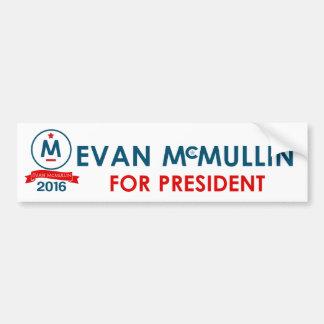 大統領のためのエバンMcMullin バンパーステッカー