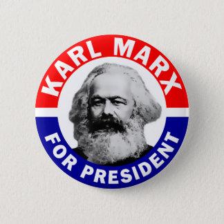 大統領のためのカール・マルクス 5.7CM 丸型バッジ