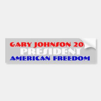 大統領のためのギャリージョンソン2012年 バンパーステッカー