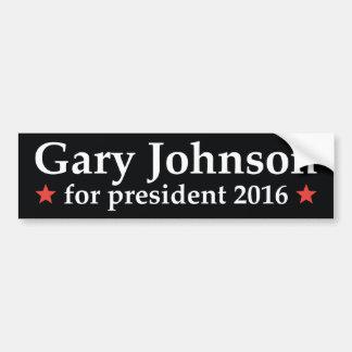 大統領のためのギャリージョンソン バンパーステッカー