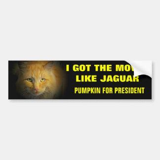 大統領のためのジャガーのカボチャのような移動 バンパーステッカー