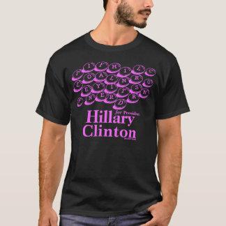 大統領のためのスクラブルメッセージヒラリー・クリントン Tシャツ