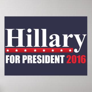 大統領のためのヒラリー・クリントン ポスター