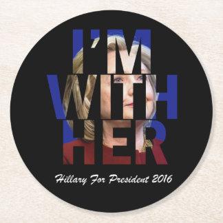 大統領のためのヒラリー・クリントン ラウンドペーパーコースター