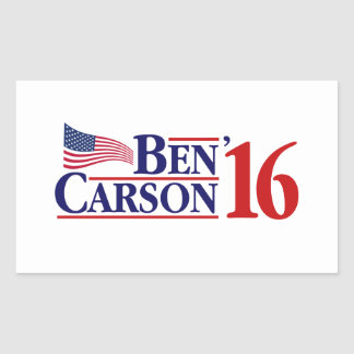 大統領のためのベンカーソン 長方形シール