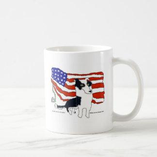 大統領のためのボーダーコリー コーヒーマグカップ
