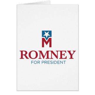 大統領のためのミット・ロムニー カード