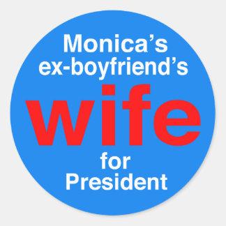 """大統領のためのモニカの元ボーイフレンドの妻"""" ラウンドシール"""
