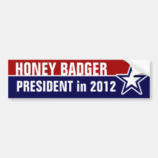 大統領のためのラーテル バンパーステッカー