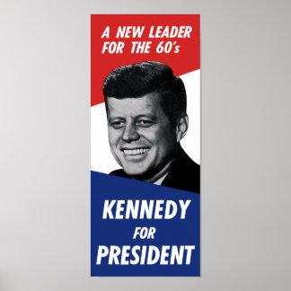 大統領のためのヴィンテージ60sケネディ-新しいリーダー ポスター