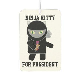 大統領のための忍者の子猫 カーエアーフレッシュナー