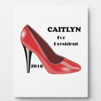 大統領のための投票CAITLYN! フォトプラーク
