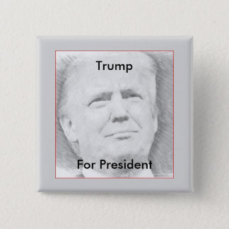 大統領のためのButton切札 5.1cm 正方形バッジ
