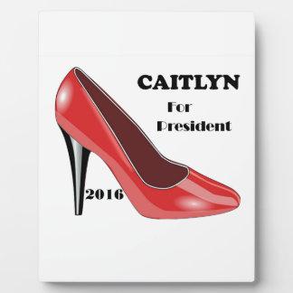 大統領のためのCaitlyn! フォトプラーク