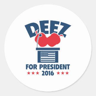 大統領のためのDeezのナット ラウンドシール