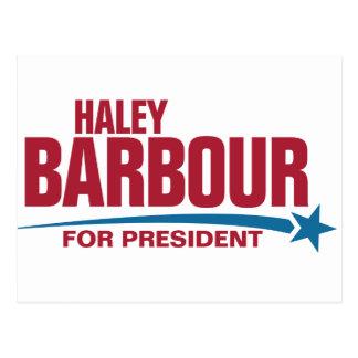 大統領のためのHaley Barbour ポストカード