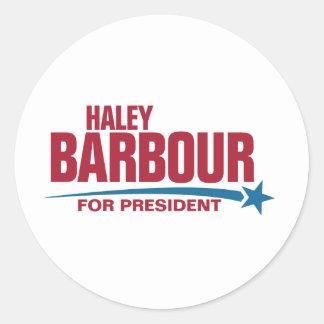 大統領のためのHaley Barbour ラウンドシール