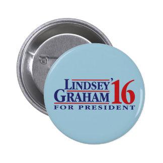 大統領のためのLindseyグラハム 5.7cm 丸型バッジ