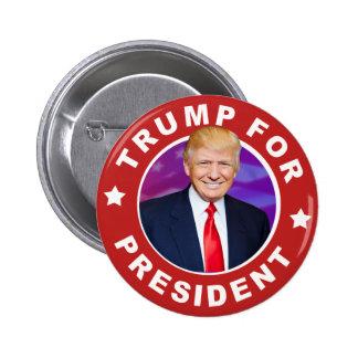 大統領のためのPhoto Pinback Buttonドナルド・トランプ 5.7cm 丸型バッジ