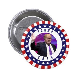 大統領のためのPhoto Retro Button Starドナルド・トランプ 5.7cm 丸型バッジ