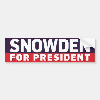 大統領のためのSnowden バンパーステッカー