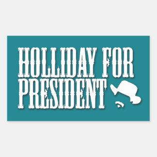 大統領のためのSticker Holliday 長方形シール