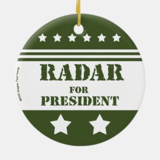 大統領のためRadar セラミックオーナメント