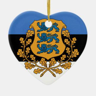 大統領のなエストニア、エストニア 陶器製ハート型オーナメント