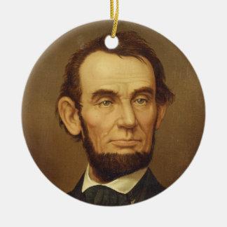大統領のエイブラハム・リンカーンポートレート セラミックオーナメント
