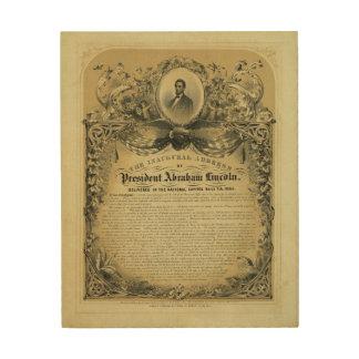 大統領のエイブラハム・リンカーン就任演説 ウッドウォールアート