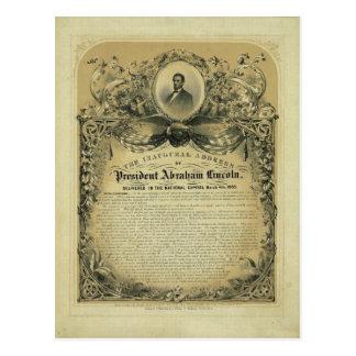大統領のエイブラハム・リンカーン就任演説 ポストカード