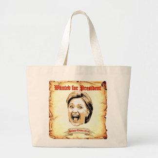 大統領のトートバックのために望まれるヒラリー・クリントン2016 ラージトートバッグ