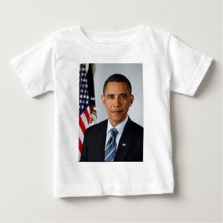 大統領のバラック・オバマ公式のポートレート ベビーTシャツ