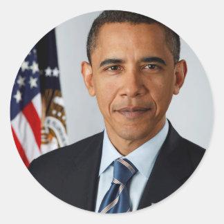 大統領のバラック・オバマ公式のポートレート ラウンドシール